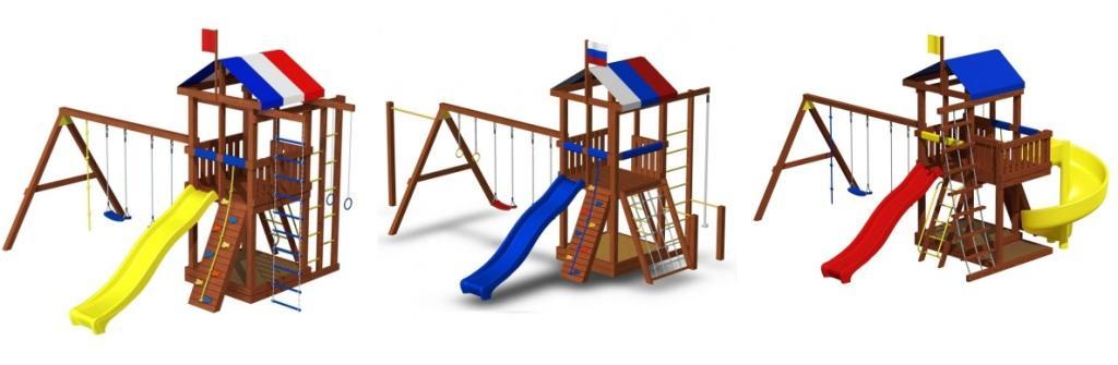 Детские площадки стоимостью от 29 до 149 т.р.